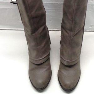 Women's Boots-Fergalicious by Fergy-Grey,Size 6.5M